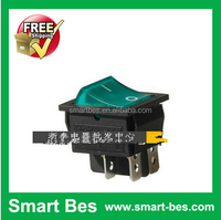 Free shipping ~200pcs/lot Excellent Quality Ship type switch, power supply switch ,KCD4 - 201 n with lamp ,4 feet 2 file