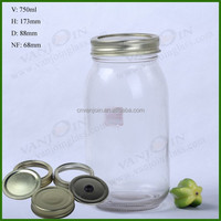 Bulk Mason 750ml Storage Jar Glass With Screw Cap