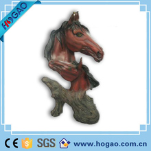 Lifelike resin animal horse head horse statue for wall decoration