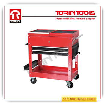 steel 4 wheel metal tool cart / trolley/rolling tool cart cabinet