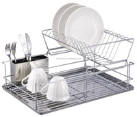 Kitchen Accessories Storage Metal Chrome Unique Dish Racks