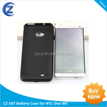 3200mAh External Rechargeable Power Pack Backup Battery Case for HTC One M7