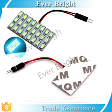 Ice Bule Festoon dome light 5730 24 smd LED Car Interior roof panel reading Auto with t10 ba9s festoon adapter light