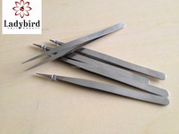 2014 nail Tweezers of nail decoration / Sharp Pointed Eyelash Extension Tweezers