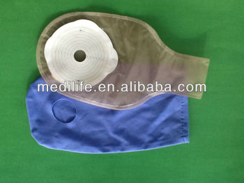two piece Colostomy bag with pouch ostomy care bag disposable ostomy pouch