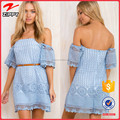 2016 New design clothing off shoulder dress lace dress women off shoulder trendy clothing