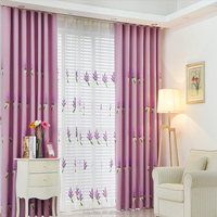 Custom blackout fabric embroidered magnet butterfly curtain,100% Polyester embroidered jacquard luxury hotel curtains