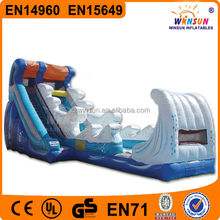 top quality ocean wave commercial grade wahoo inflatable water slide for fun