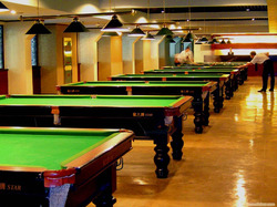 Standard solid wood with slate 12 ft billiard snooker table