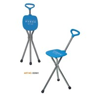aluminum folding stool walking stick for disabled
