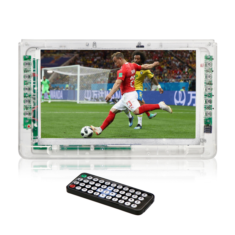 New Clear Tech Pocket Portable Digital TV Transparent LCD LED TV for Prison Jail