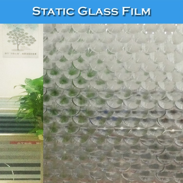 WB38 Removable Decorative Window Film 3D Glass Vinyl PVC Sticker