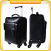 PU evening bag hot sale travel time trolley bag with 4 wheels aluminum trolley bag