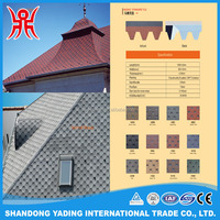 Color aulumn brown mosaic standard tile hexagonal asphalt shingle