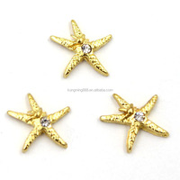 Gold Plated Zinc Alloy Fashion Wholesale Starfish Charms For Locket