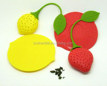 Promotional Factory Price Strawberry Shape Silicone Tea Bag Infuser
