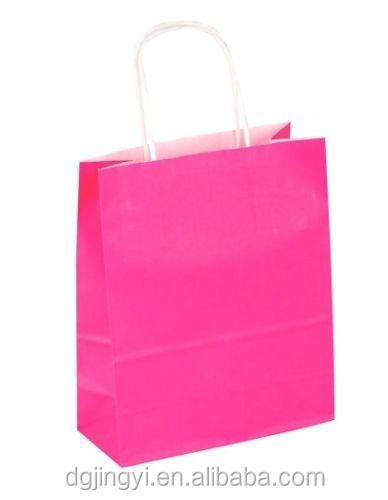 Rose origami paper gift bag/promotional paper bag in China