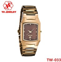 2015 Advanced Customization Tungsten Watch With Charming Rose Gold Diamond Design Hot Sell In World