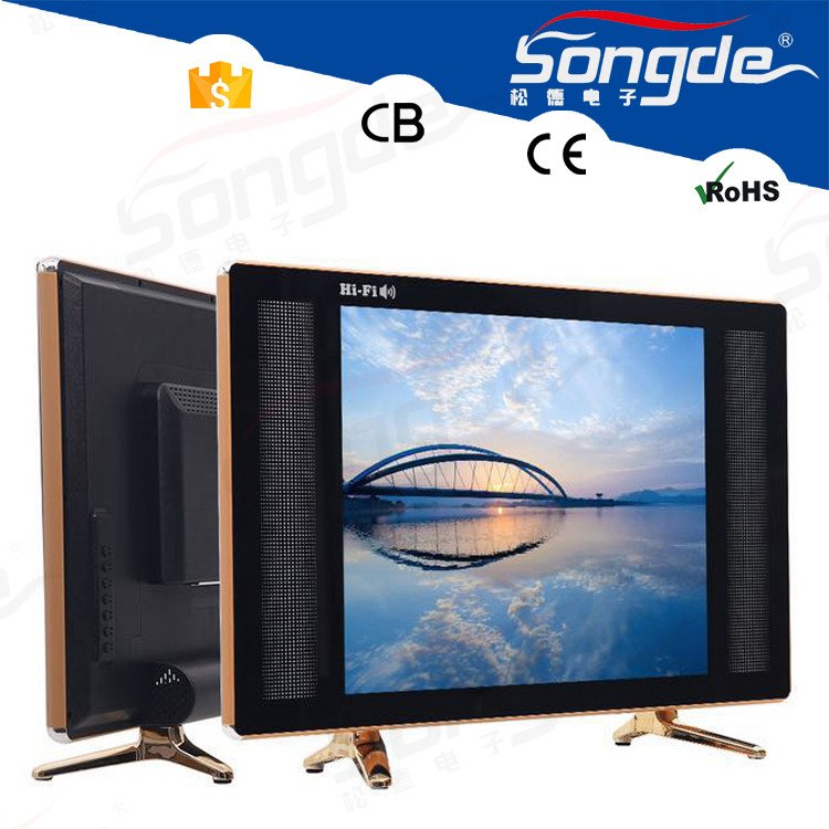 "China Factory Cheap Flat Screen TV 16 inch 17"" LED TV solor tv"