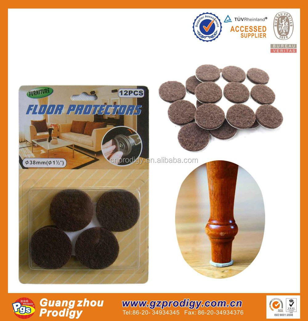 hot sale self-adhesive furniture accessories/felt feet pad/rubber floor felt chair leg protectors