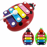 Kid Beetle 5-Note Xylophone Musical Toy Wisdom Development Educational Toy Musical Instrument