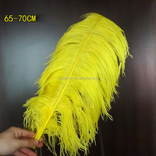 Best sale cheap 65-70cm Artificial Yellow Ostrich feathers