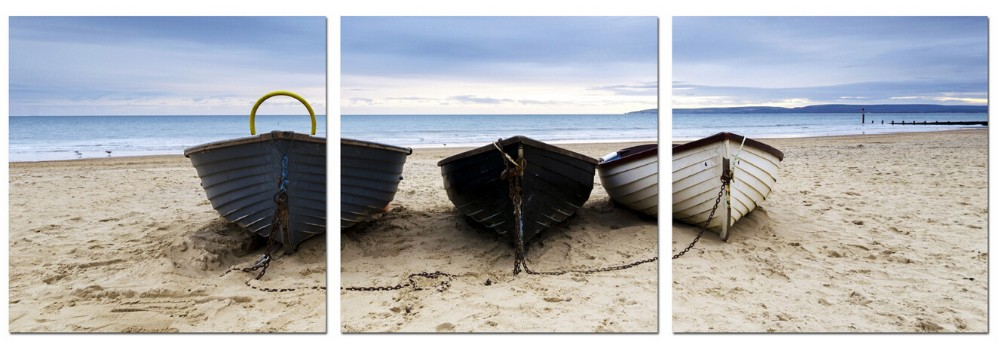 Beach Boat Home Goods Decoration Wall Art Canvas Painting