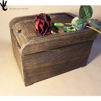 Pan wood rice container decorative storage boxes pine wood blanket box storage box
