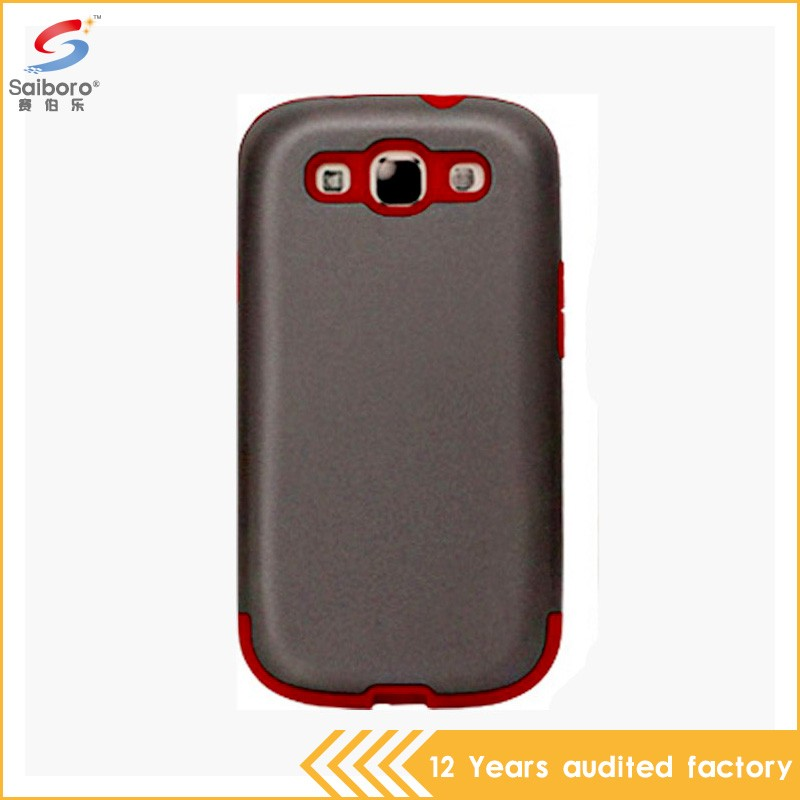 Heavy duty shockproof low moq phone cover for samsung galaxy s3