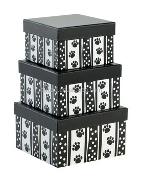 3 Pcs Nest Boxset Polka Dot Paws - Dubaa Fashion