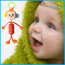 New Cute Kids Hanging Bed Toys Baby Hanging Toy for car Ring Bell for baby gift