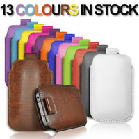 Pull Up Tab PU Leather Pouch Case for Samsung Galaxy S3 I9300
