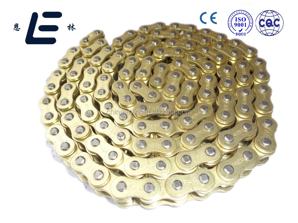 High Quality Reasonable Price Golden Color 428H Motorcycle Drive Chain