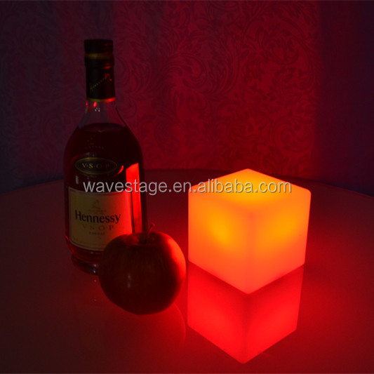 waterproof IP 65 lounge chair illuminated furniture led light cube