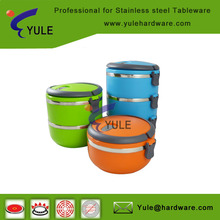 Stainless steel food container with water proof funtion and lock 1/2/3/4 layers