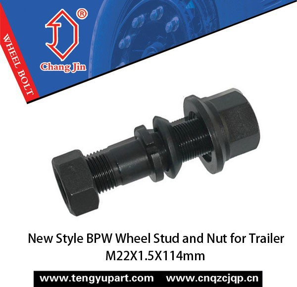 New Style BPW Wheel Stud and Nut for Trailer