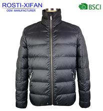Latest Russian Winter Men Natural Duck Down Jacket with Stand Collar / Men Soft Shell Down Outdoor Clothing
