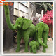 Customized artificial animal sculpture garden decoration green sculpture artificial elephant sculpture