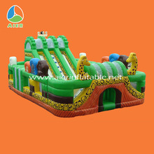tropical forests amusement park,air filled inflatable slide