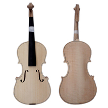 Factory Price Solid Unvarnished Unfinished White Violin for Sale