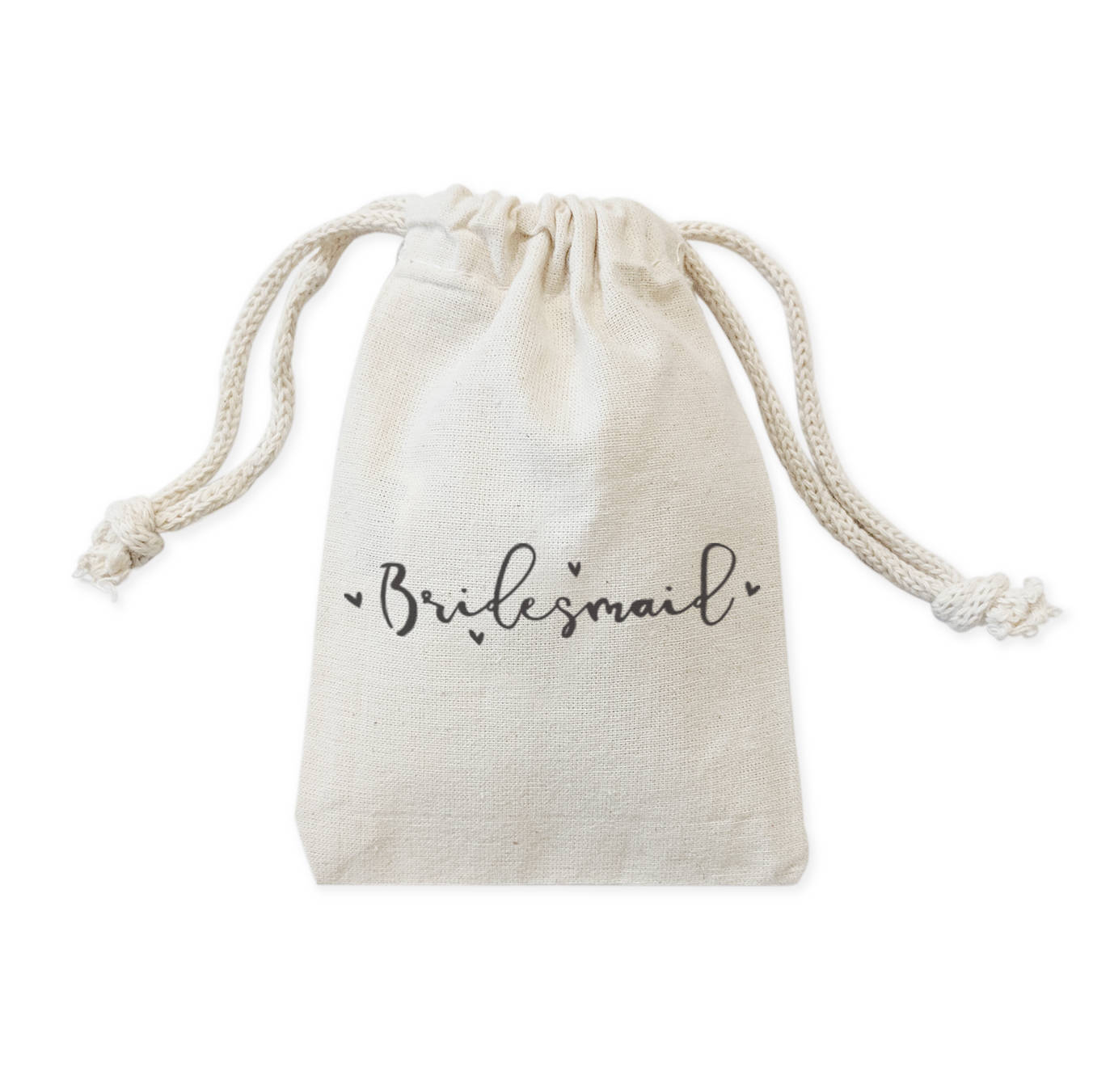 Custom name bridesmaid cotton canvas wedding party favor gift bags