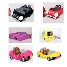 2017 latest six designs car shaped dog bed pet bed factory