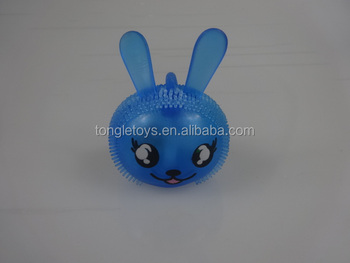 spiky animals with led light and sound,toy animals,flash puffer animals