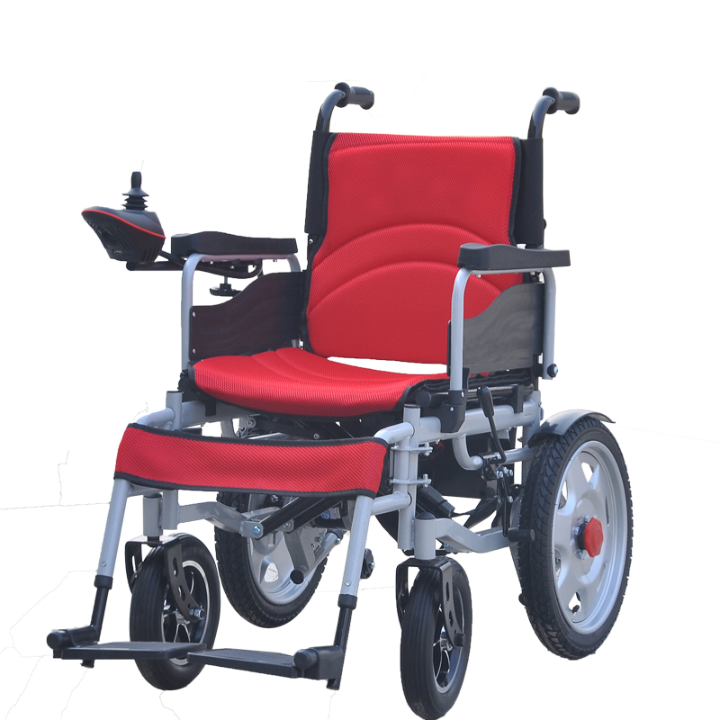 Trade Assurance Portable Folding Electric Motorized Wheelchair Used For The Disabled