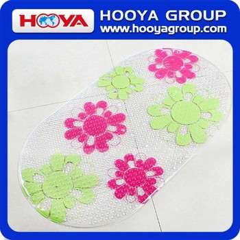 Non-Slip Thin PVC Printed Bath Mat Massage Bath Mat