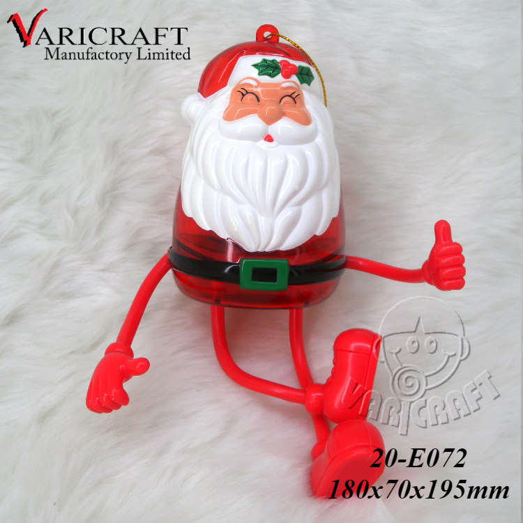 ISO9001 Factory direct Christmas red plastic Santa kids box