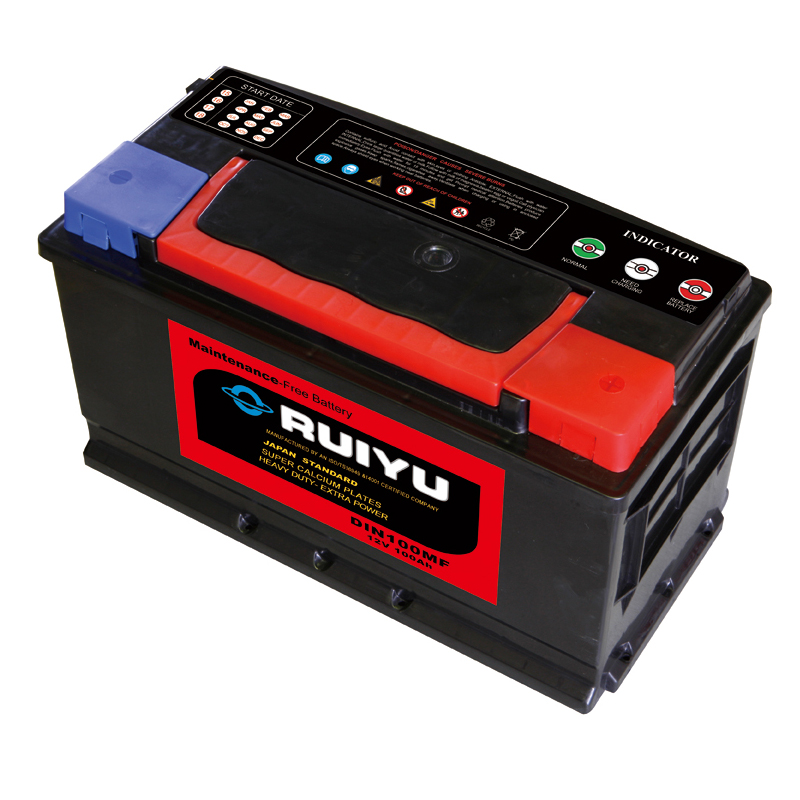 DIN super rechargeable dry batte 12v100ah cars/autos/automobiles/automotives/trucks/generators/boats battery