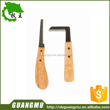 stainless steel ,woodle handle repair hoof knife for cow