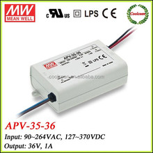 MEAN WELL 36w led driver 36v 1a APV-35-36
