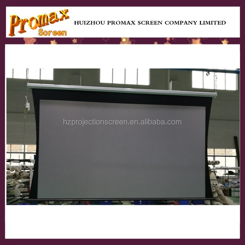3D silver 4K Projector Motorised Projector Screen Tab Tensioned,150 inch Home Theater Projectors Screen